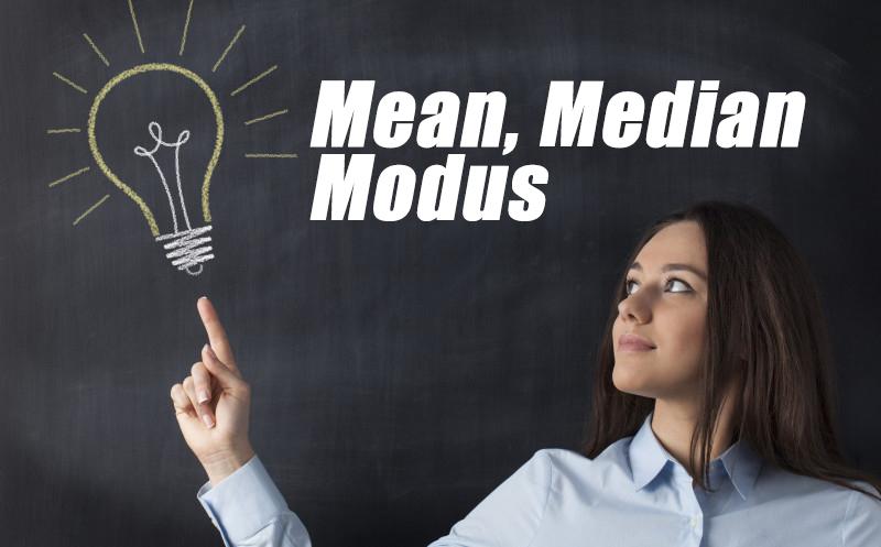 Mean, Median, Modus