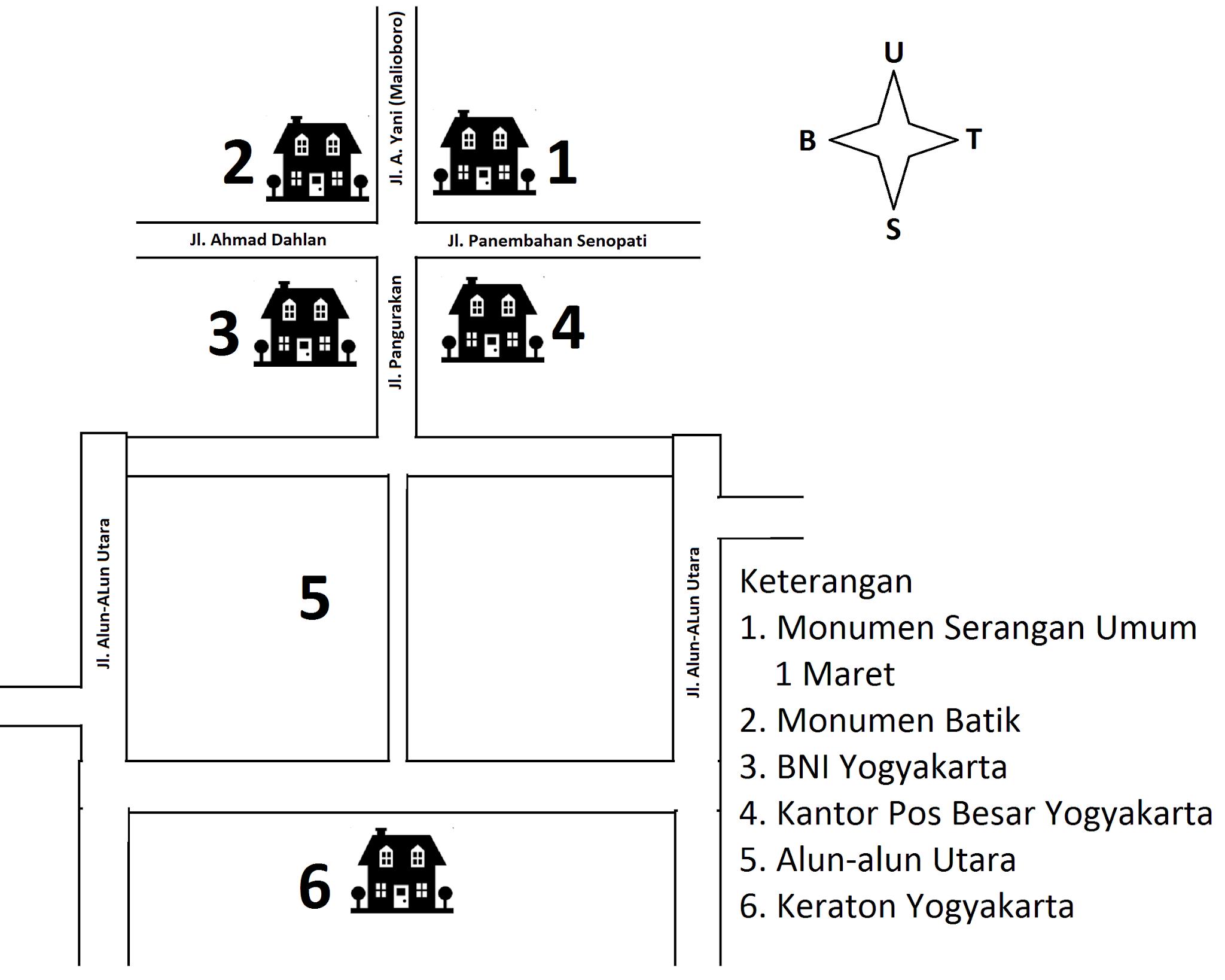 Lokasi Kantor Pos Besar Yogyakarta