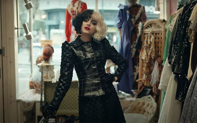 Emma Stone como Cruella. Imagen de Disney Pictures.