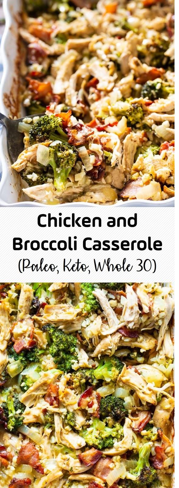 Chicken and Broccoli Casserole (Paleo, Keto, Whole 30)