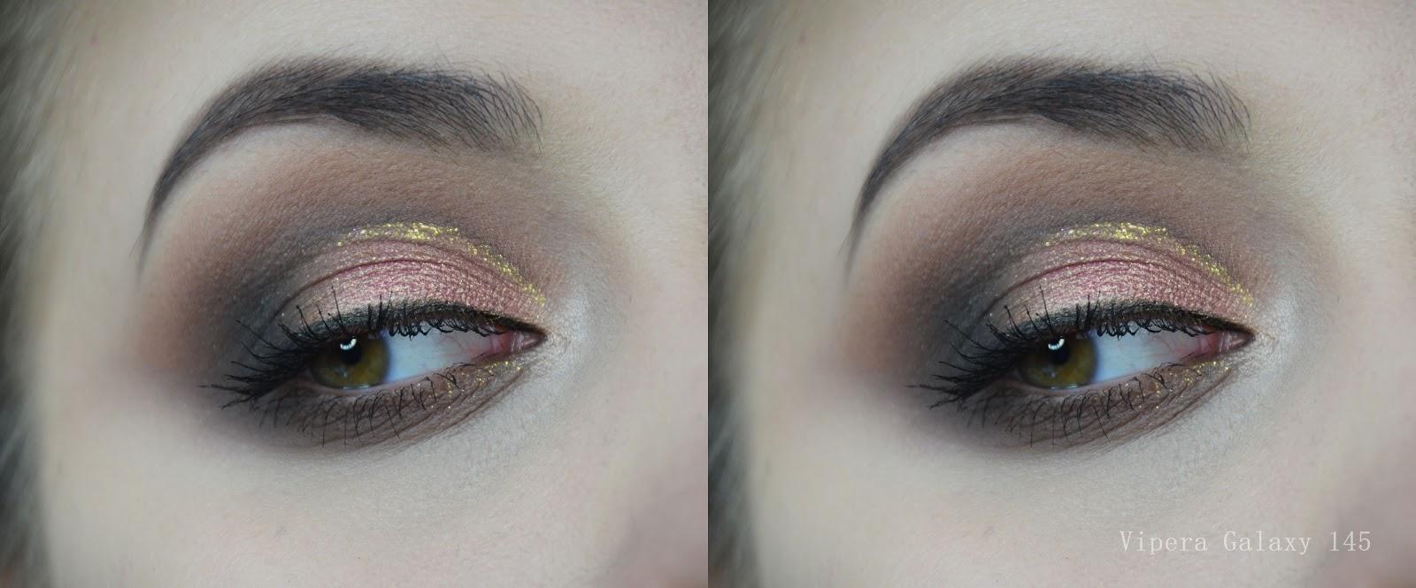 pigment vipera galaxy 145 swatch, makijaż, blog