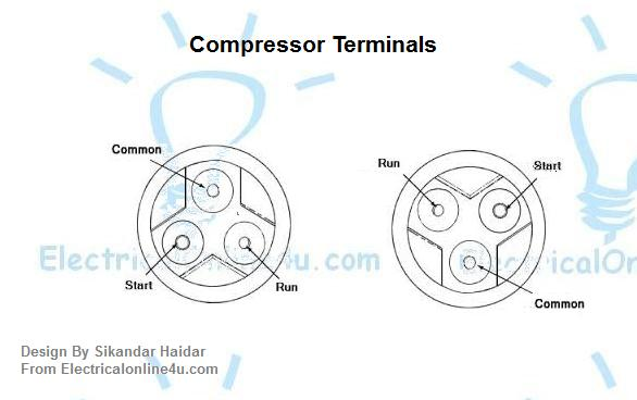 compressor terminals diagram
