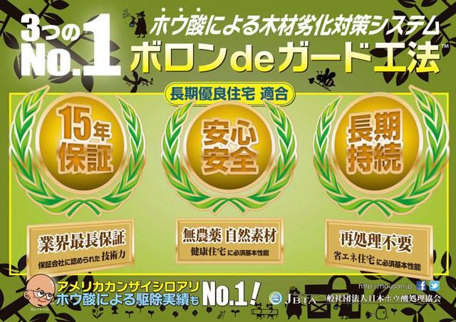 3つのナンバー1 日本ボレイト