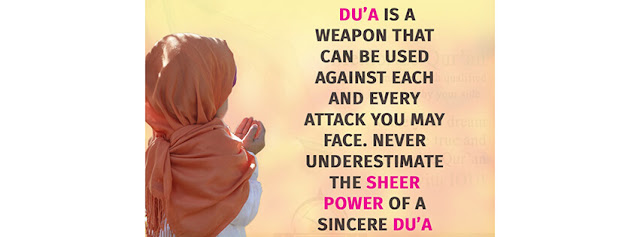Never underestimate the sheer power of a sincere dua