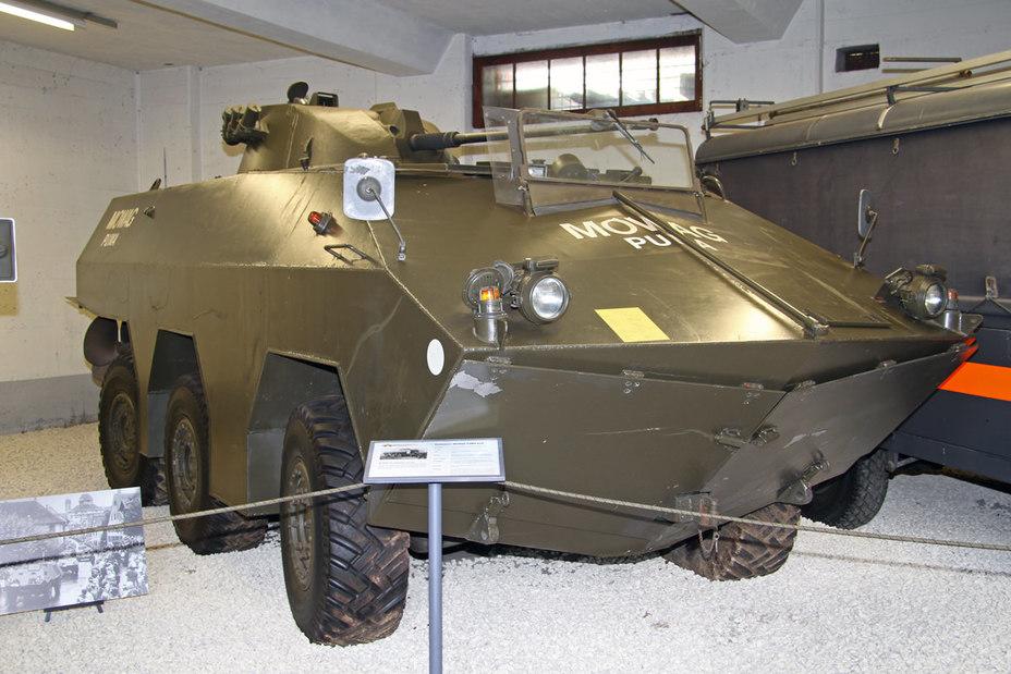 Прототип Пуми (з баштою від БТР HS30) в музейній експозиції