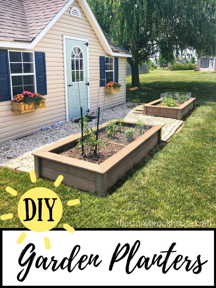 THE STONYBROOK HOUSE | DIY GARDEN PLANTERS