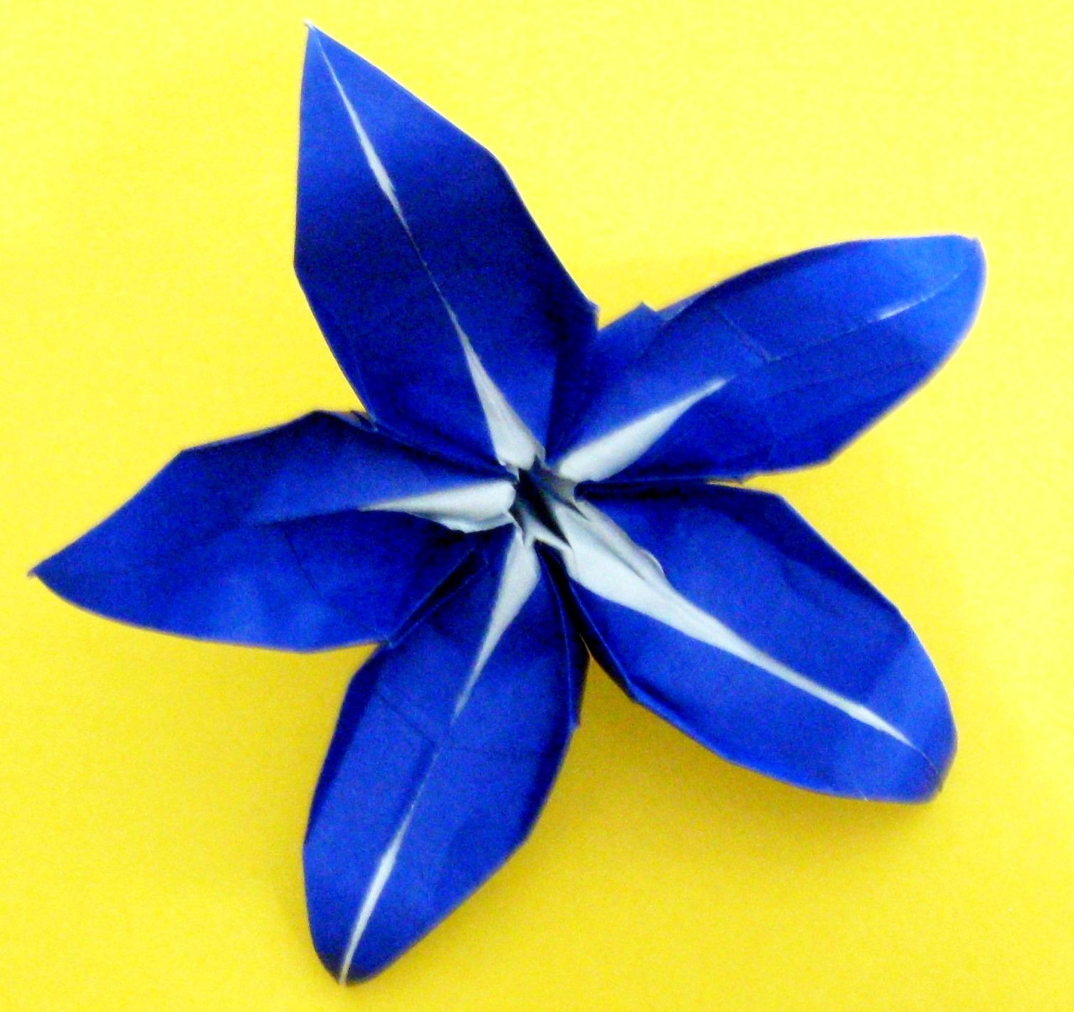 Origami origami five petal lily origami five petal lily mightylinksfo
