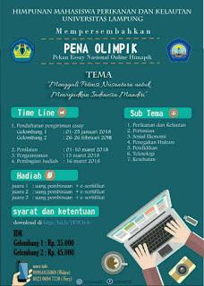 Lomba Menulis Essay Online Nasional 2018 di Universitas Lampung