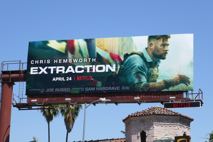 Chris Hemsworth Extraction billboard