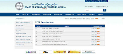 OTET 2018 Online apply last date