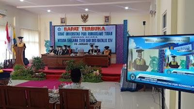 Gelar Wisuda Daring, Rektor Unirow Tuban Beber Capaian Prestasi
