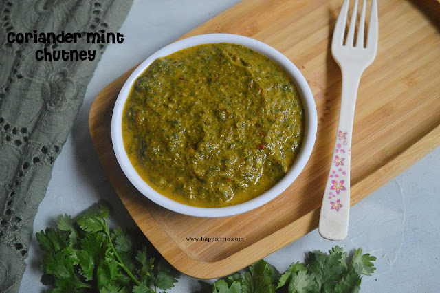 Coriander Mint Chutney Recipe | Kothamalli Pudina Chutney Recipe