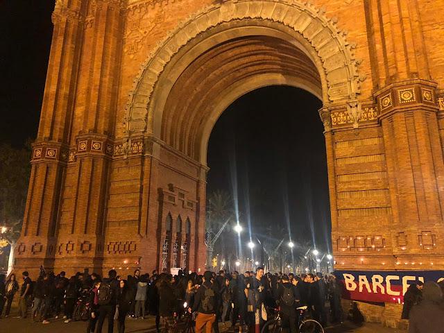 Marcha silenciosa por Chile, en Barcelona