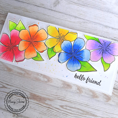Rachel Vass Designs - Spring Flowers Slimline