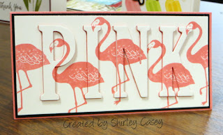 Stampin' Up! Pop of Paradise Flamingo Eclipse Card by Shirley Casey
