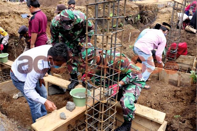 Dandim 0106/Aceh Tengah Hadiri Peletakan Batu Pertama Masjid Amardin
