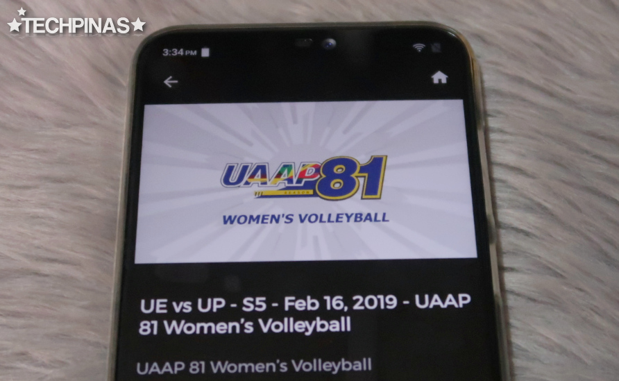 iWant, Watch UAAP Volleyball Game, UAAP Season 81 Women's Volleyball Games