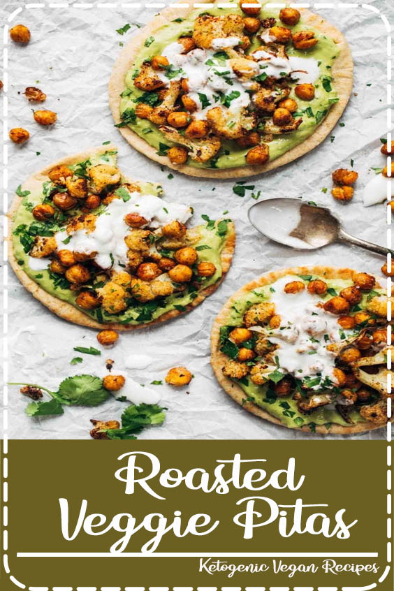 super adaptable to any veggies you have on hand  Roasted Veggie Pitas