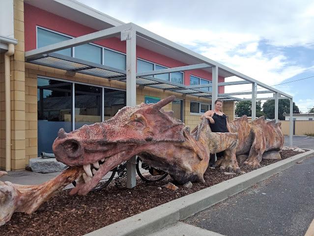 Dragon Sculpture in St Helens | Public Art Tasmania