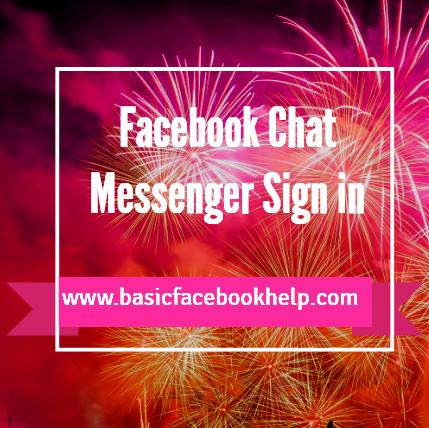 Facebook Chat Messenger Sign in