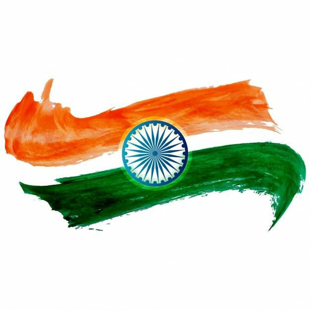 indian flag paint art