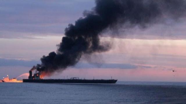 Πυρκαγιά σε δεξαμενόπλοιο στη Σρι Λάνκα - Σώοι 5 Έλληνες ναυτικοί
