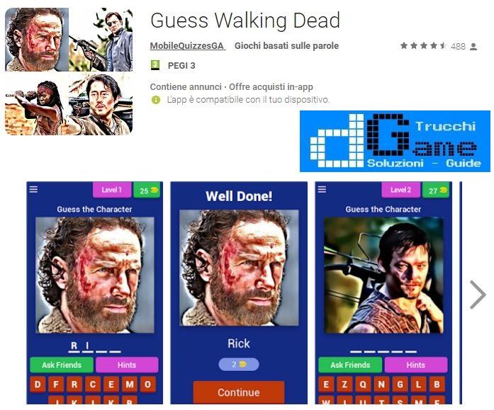Guess Walking Dead soluzione livello 41 42 43 44 45 46 47 48 49 50