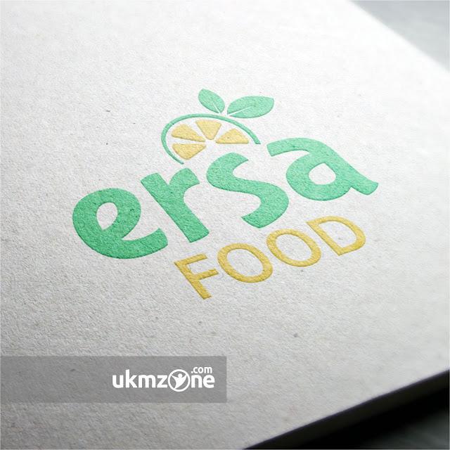 Desain logo untuk produk minuman lemon UMKM IKM kuliner minuman Ersa Food Depok | UKM ZONE