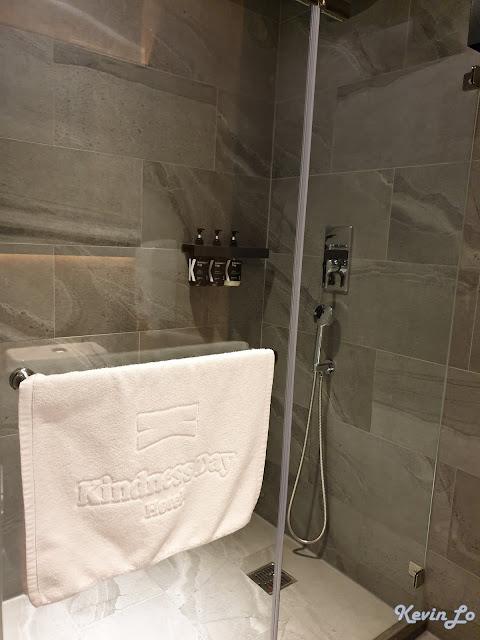 康橋慢旅無浴缸的乾濕分離設計
