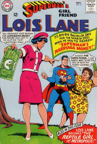 Episode #389 Part III: Superman Family Comic Book Cover Dated November 1965: Superman's Girl Friend Lois Lane #61!