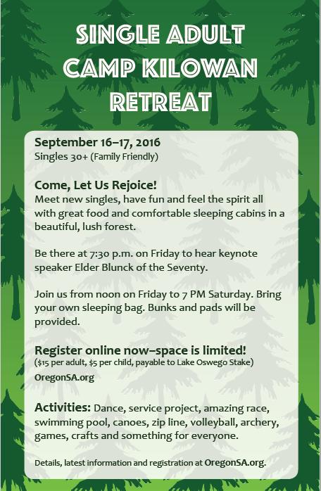 Northwest LDS Single Adults: CAMP KILOWAN -