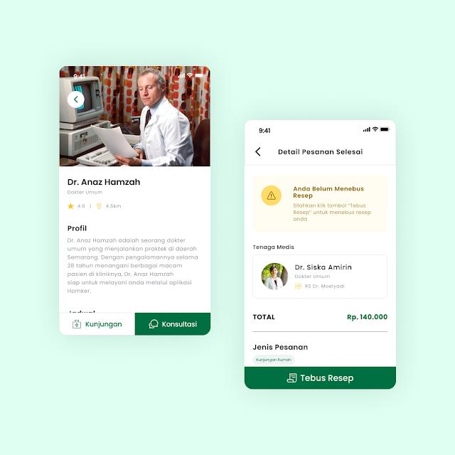 Doctor Profile Screen for Homker Mobile App