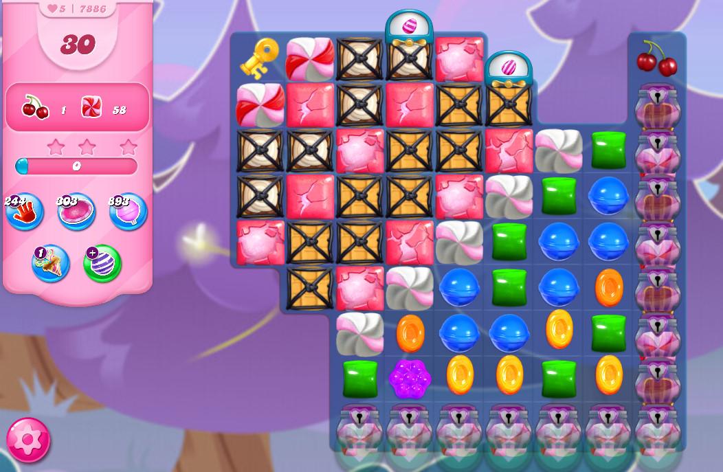 Candy Crush Saga level 7886