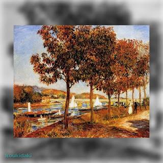 Πίνακας Pierre August Renoir (The bridge at Argenteuil in Autumn 1882)