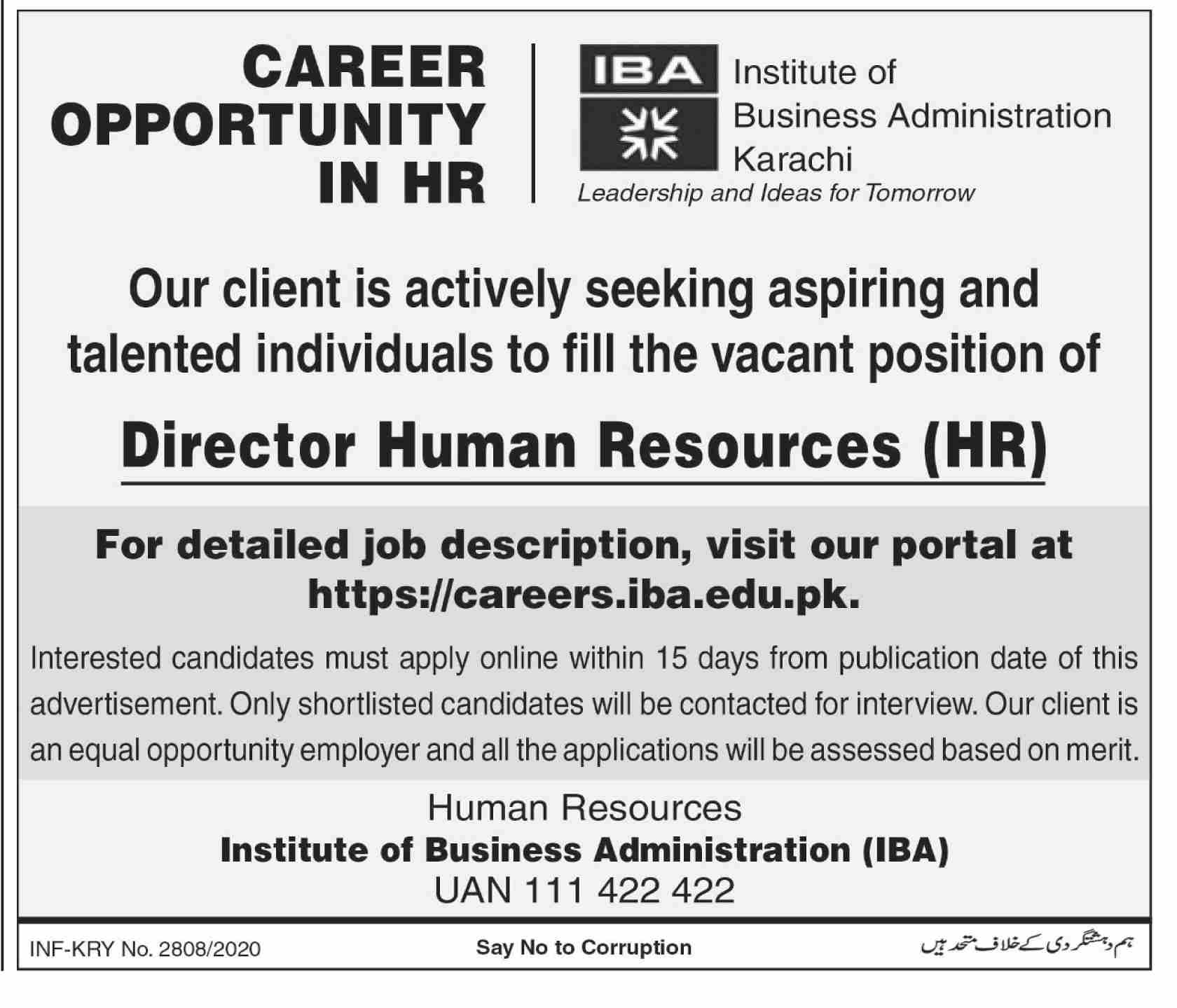 Institute Of Business Administration IBA Jobs in Pakistan Jobs 2020-2021 - Apply Online - careers.iba.edu.pk