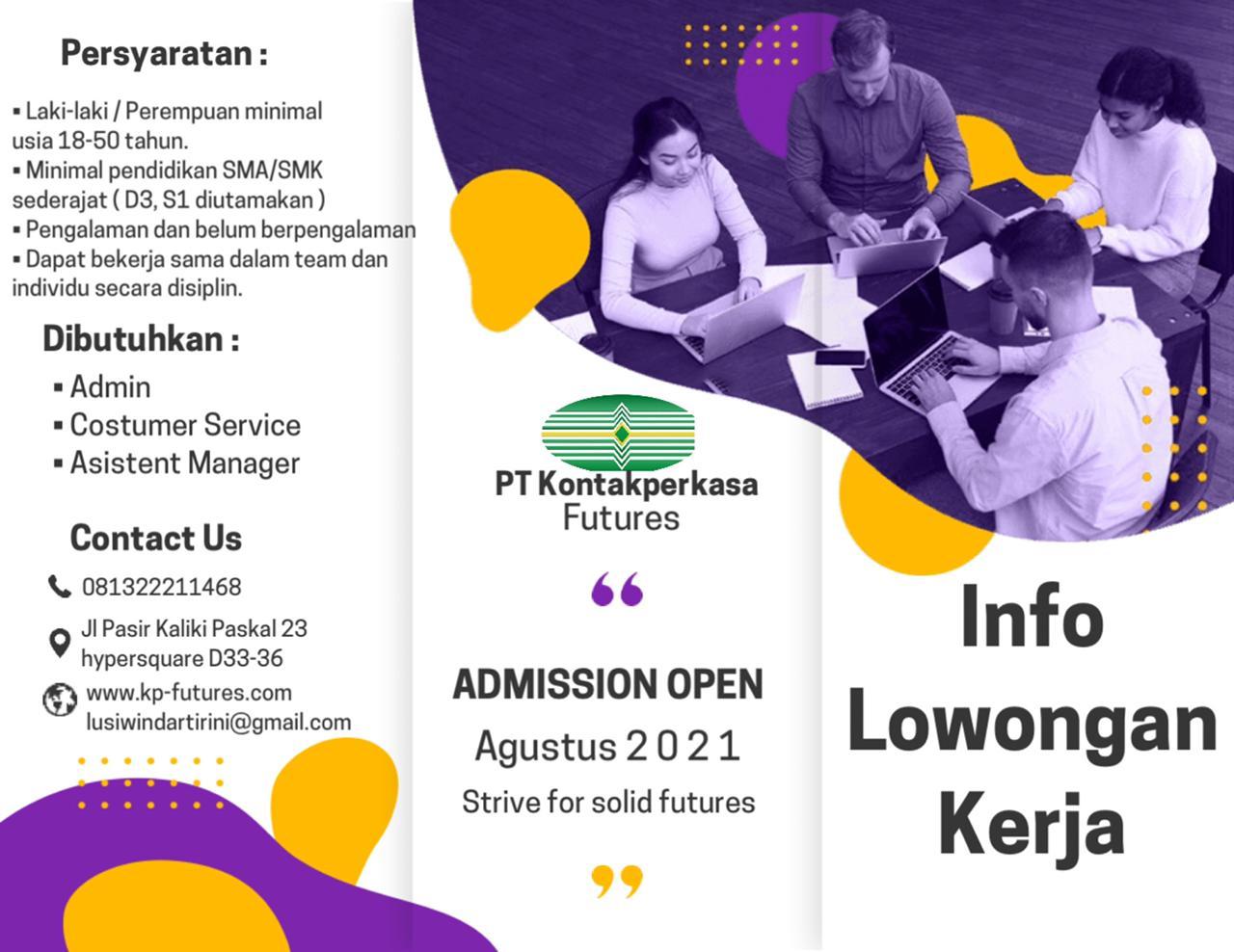 Lowongan Kerja PT. Kontak Perkasa Futures Bandung Agustus 2021