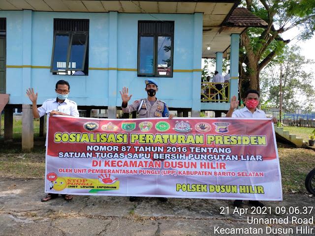 Berantas Pungli, Kanitprovos Polsek Dushil Sosialisasikan Prepres 87 Tentang Larangan Pungutan Liar