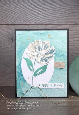 fine art floral gilded leafing embellishment 1