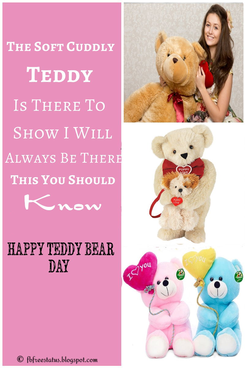 Happy Teddy Bear images with Love Quotes