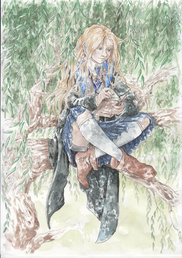 WIP fanart Luna dans les saules - Harry Potter