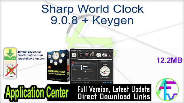 Sharp World Clock 9.0.8 + Keygen