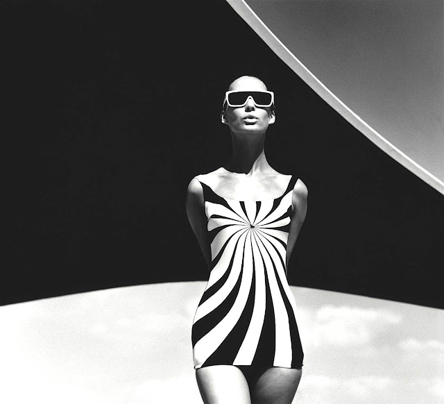 an F.C. Gundlach photo 1966, sun swimsuit, 1966 fashion model