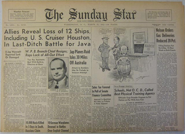 The Sunday Star, 15 March 1942 worldwartwo.filminspector.com