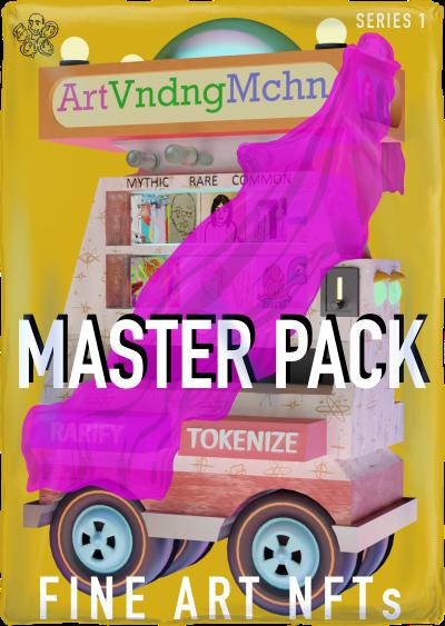 ArtVndngMchn Master Pack of fine art NFTs on WAX