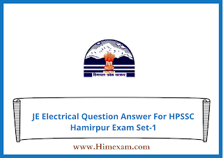 JE Electrical Question Answer For HPSSC Hamirpur Exam Set-1