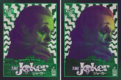 Joker Gotham Green Variant Screen Print by Brian Ewing