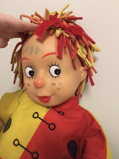 Testa da boneca - mancha bem mais discreta