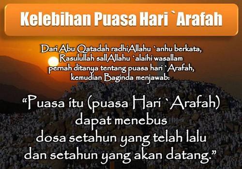 Niat Bacaan Puasa Sunah Tarwiyah Dan  Arafah