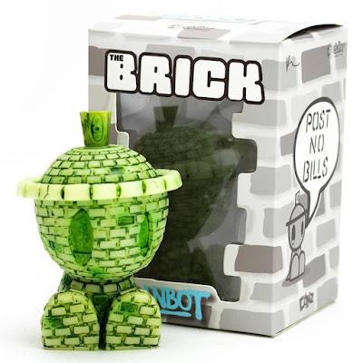 The OG Brickbot GID Edition Vinyl Figure by Kyle Kirwan x Czee13 x Clutter