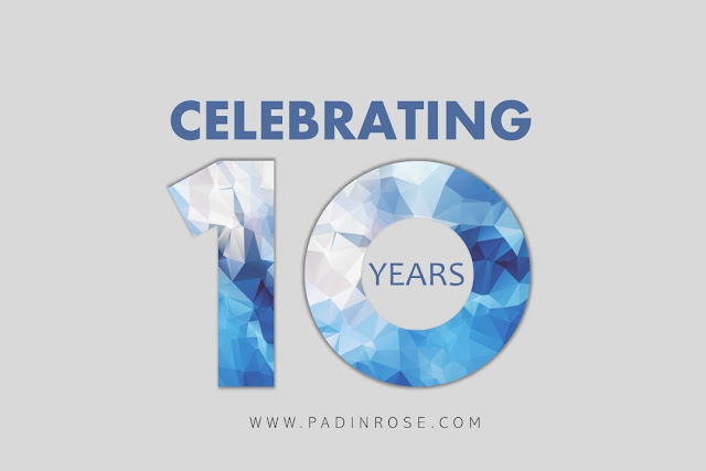 celebrating 10 years padinrose.com